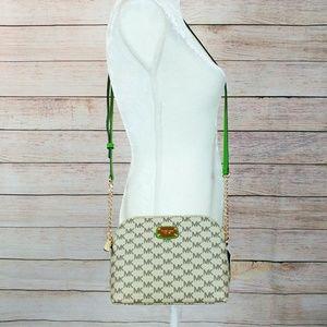 Michael Kors Cindy Green Strap Dome Crossbody Bag